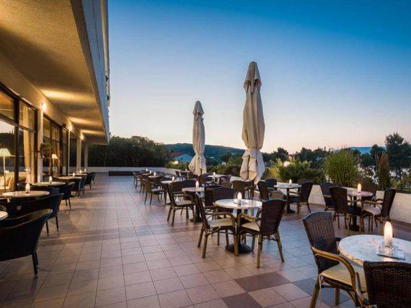 hotel terrace night